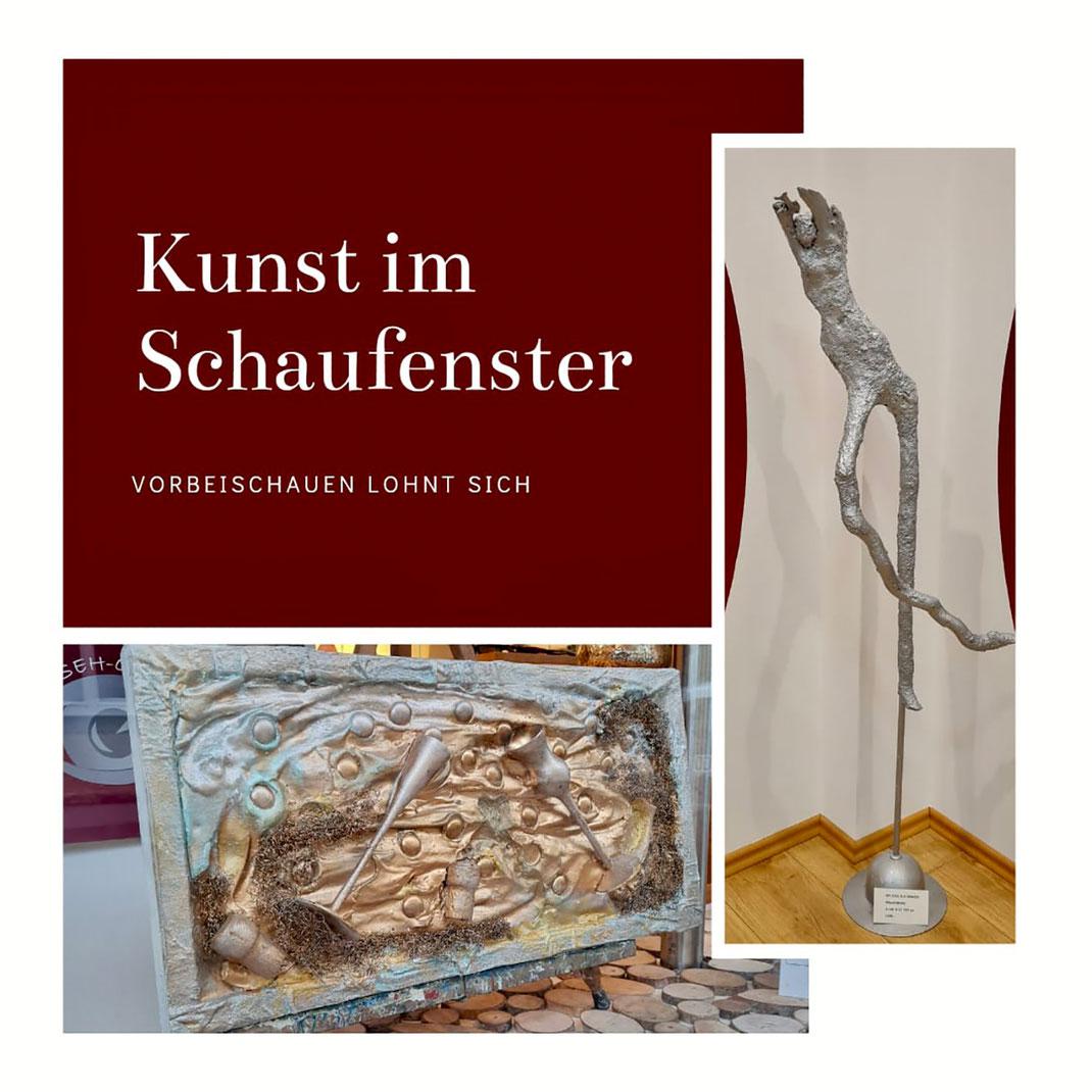 Kunst im Schaufenster in Tegernsee