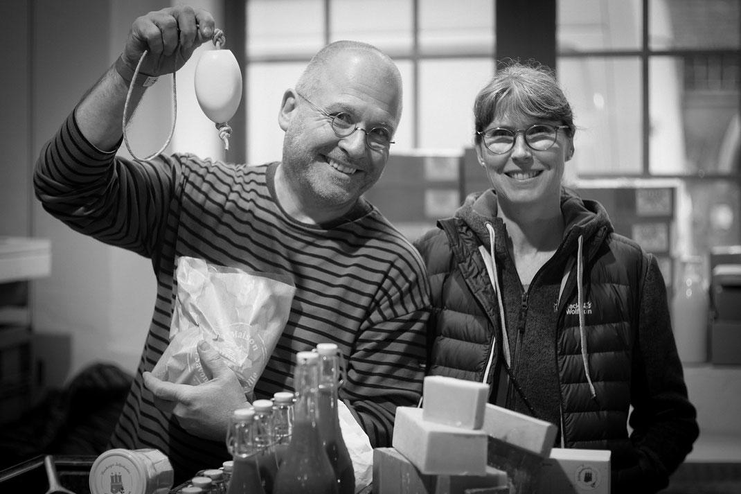 Seifenfrau & Seifenmann auf dem Besonders-Markt 2020, Museum der Arbeit. Danke an Bildautorin Orsolya Brandt (FB: Murok Marci)