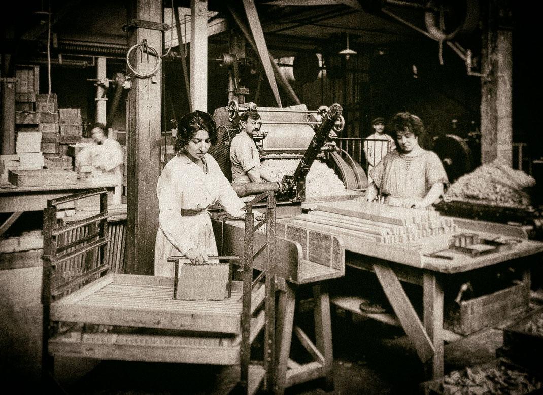 Seifenproduktion um 1900 herum, Bildautor unbekannt