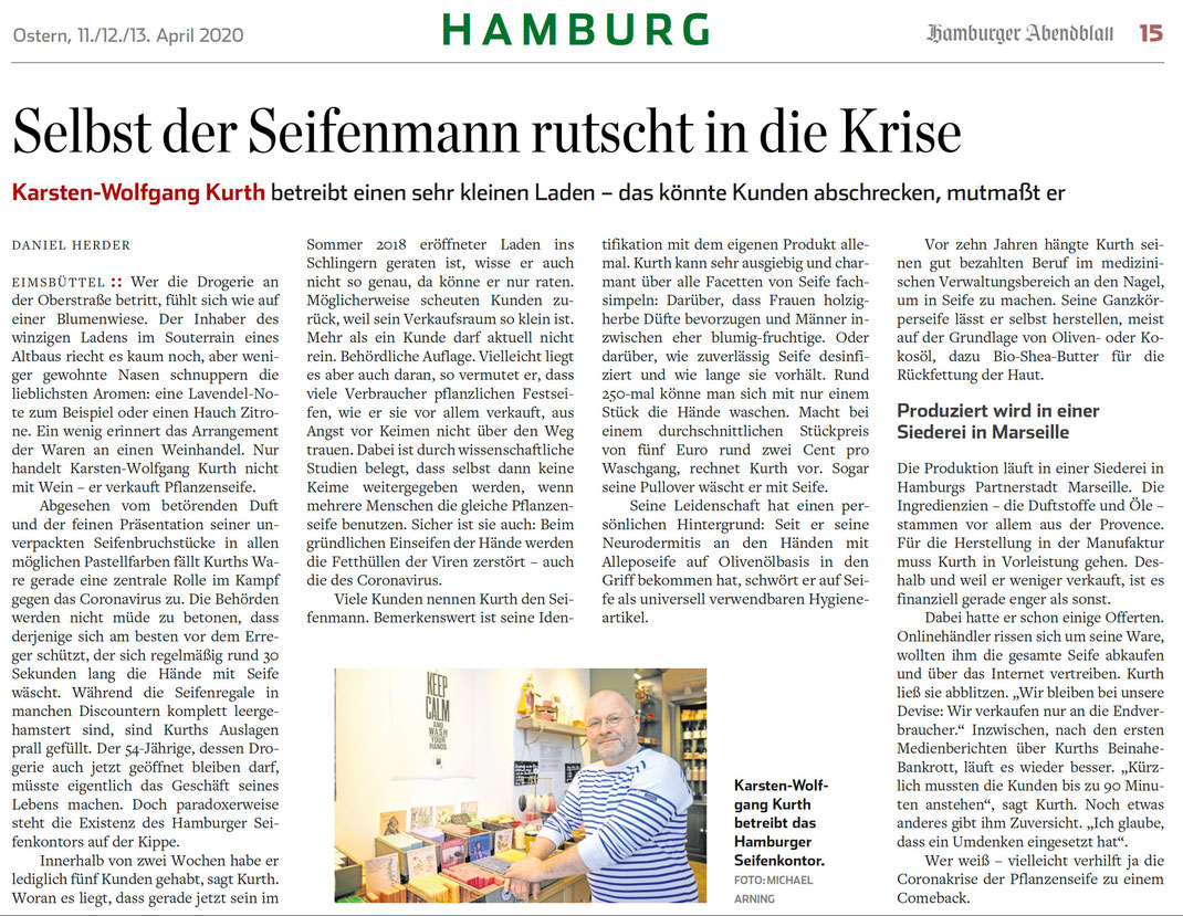 Auf diesen Beitrag hin rief mich am Ostersamstag der Eigentümer von Budni an & bot uns Unterstützung an. Nun sind wir bereits in 2 nachhaltigen budni in Hamburg mit einem kleinen Verkaufsstand. Danke für die Unterstützung an Budni & Hamburger Abendblatt!