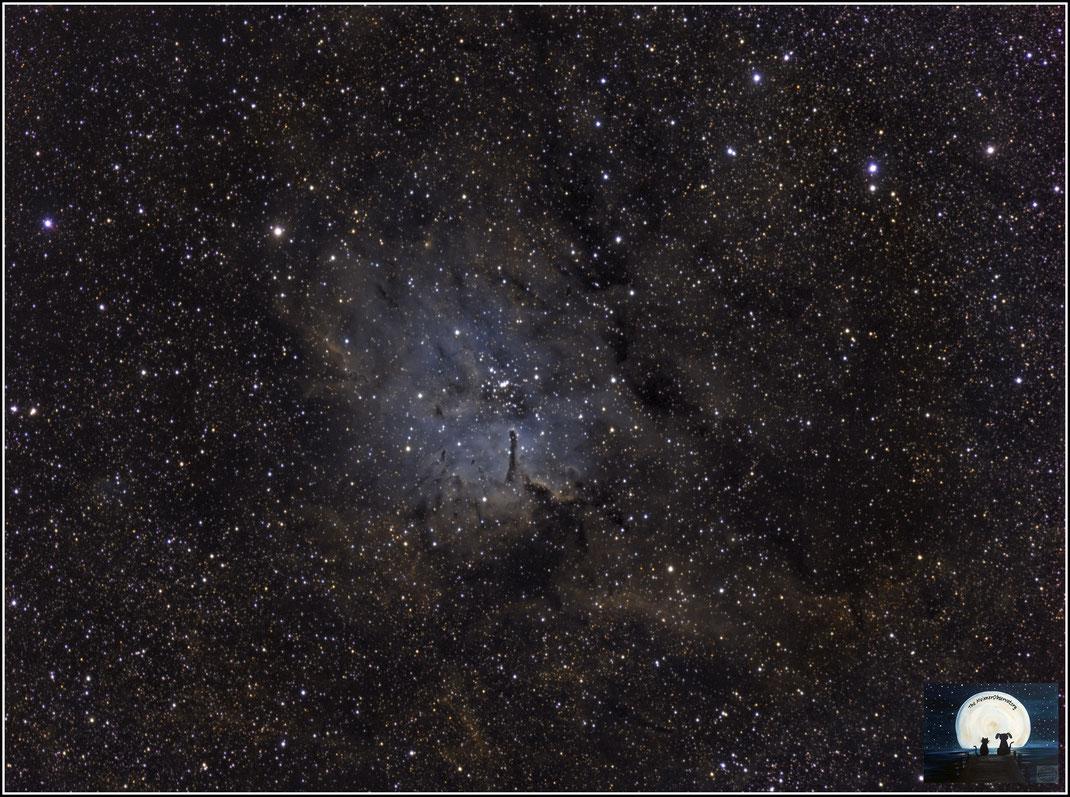 NGC 6823 • C 1941+231 • OCl 124 • Cr 405 • GC 4512 • H VII 18 • h 2049 • HAlpha Filter, OIII und SII - Filter - MeixnerObservatorium