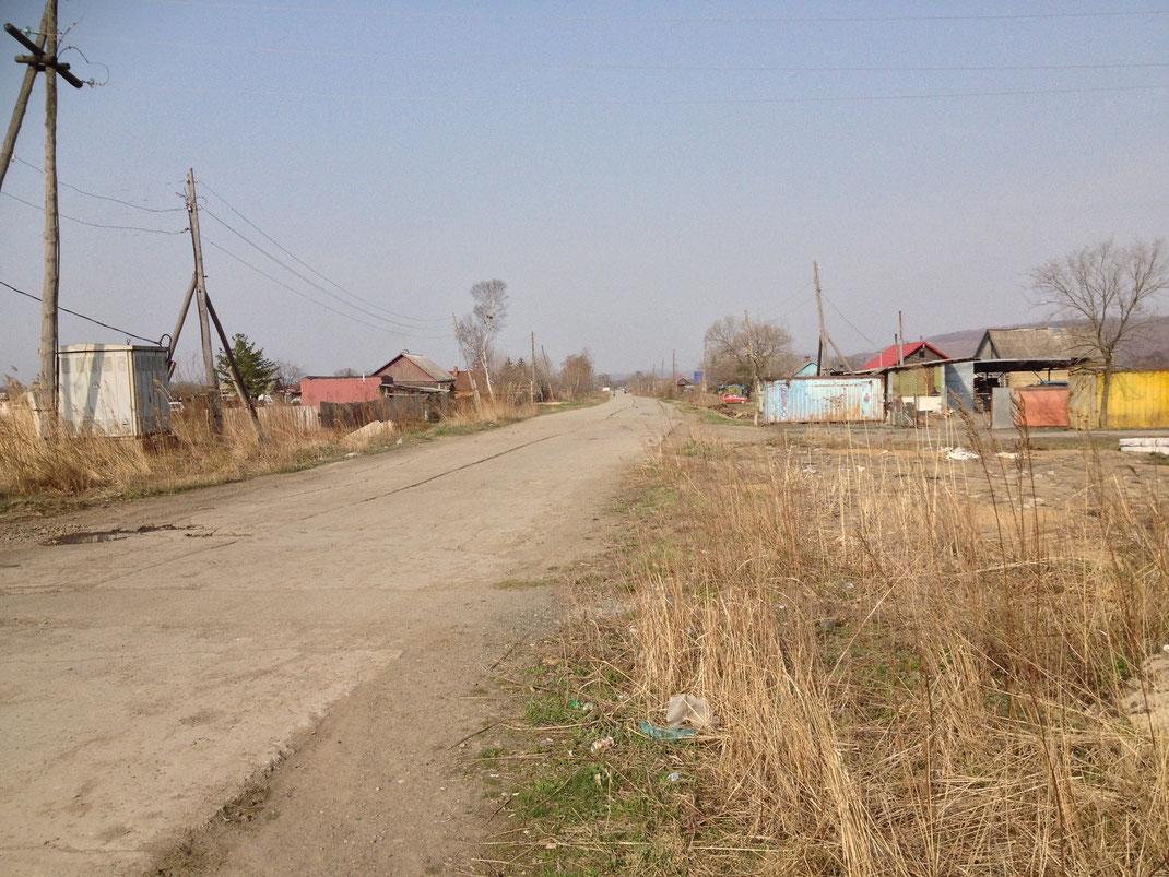 Далее по улице Ленинской на выезд в сторону Пристани.