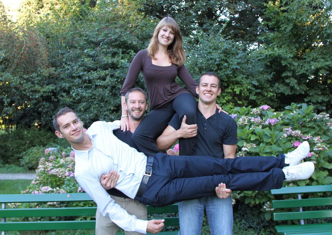 Von links nach rechts: Manuel, Jonas, Lisa-Lena und Simon