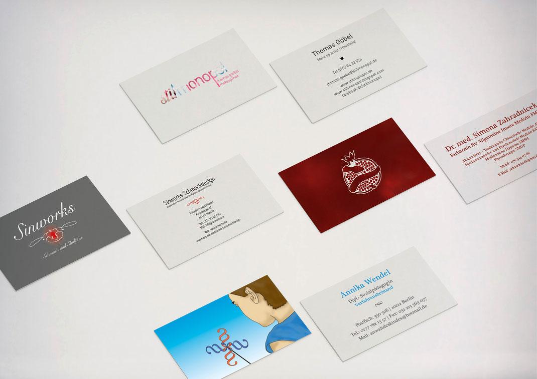 Bild: Portfolio Dorina Rundel - Grafikdesignerin: Visitenkarten
