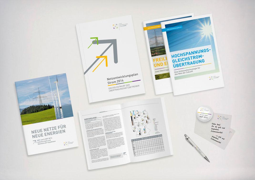 Bild: Portfolio Dorina Rundel - Grafikdesignerin: Netzentwicklungsplan - Layout Printdesign
