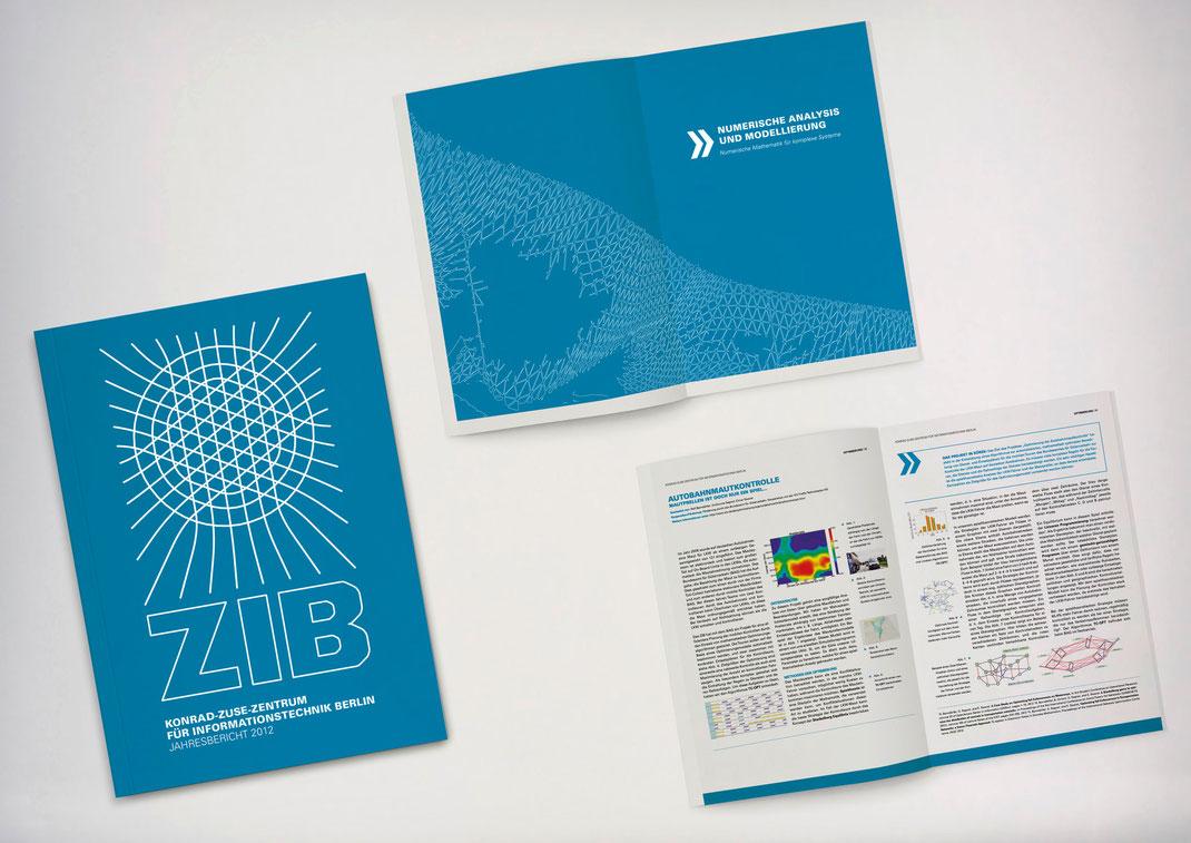 Bild: Portfolio Dorina Rundel - Grafikdesignerin: Zuse Institut Berlin - Jahresbericht
