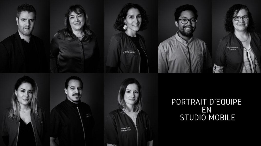 portrait d'équipe corporate