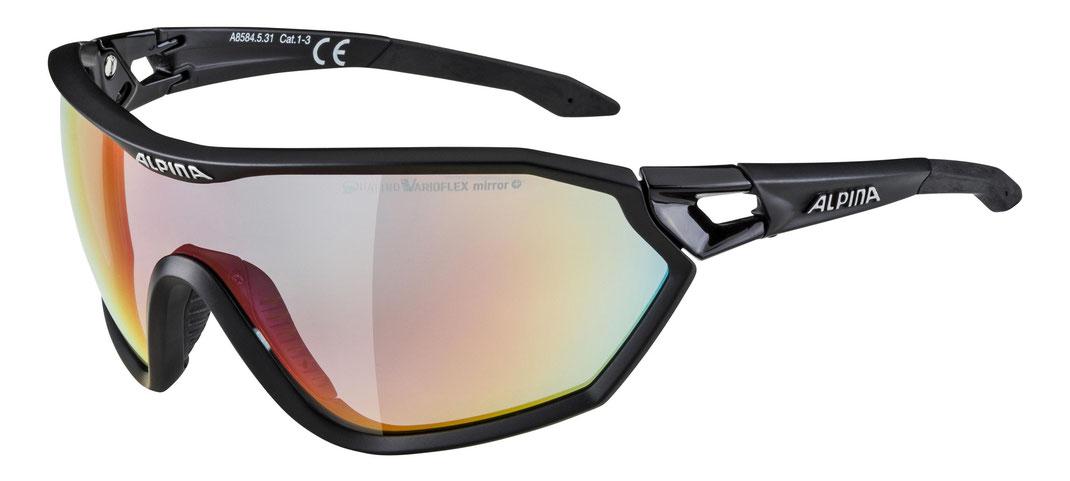 Alpina S-Way QVM+ Brille black matt Quattrovarioflex FcAghaOkAv