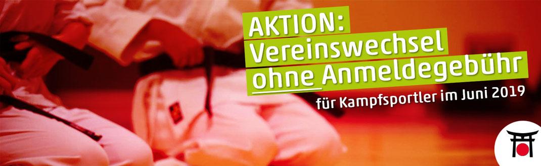 Karate Bushido Köln Aktionsangebot keine Anmeldegebühr für Kampfsportler