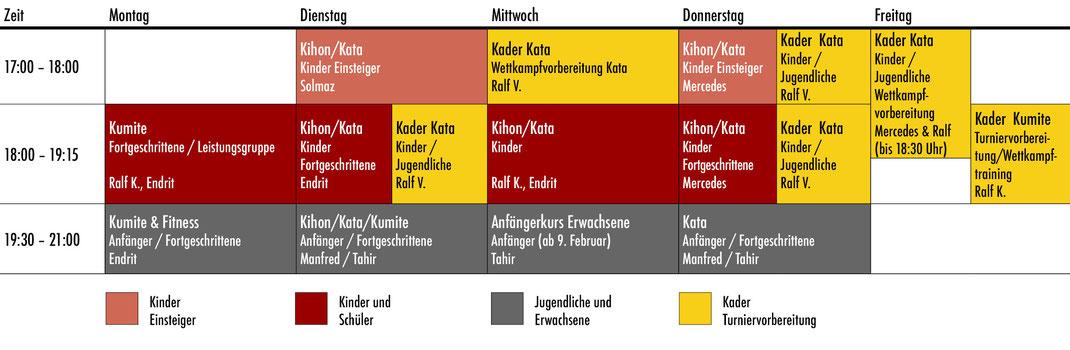 Bushido Köln - Trainingszeiten Karate in Köln Kalk