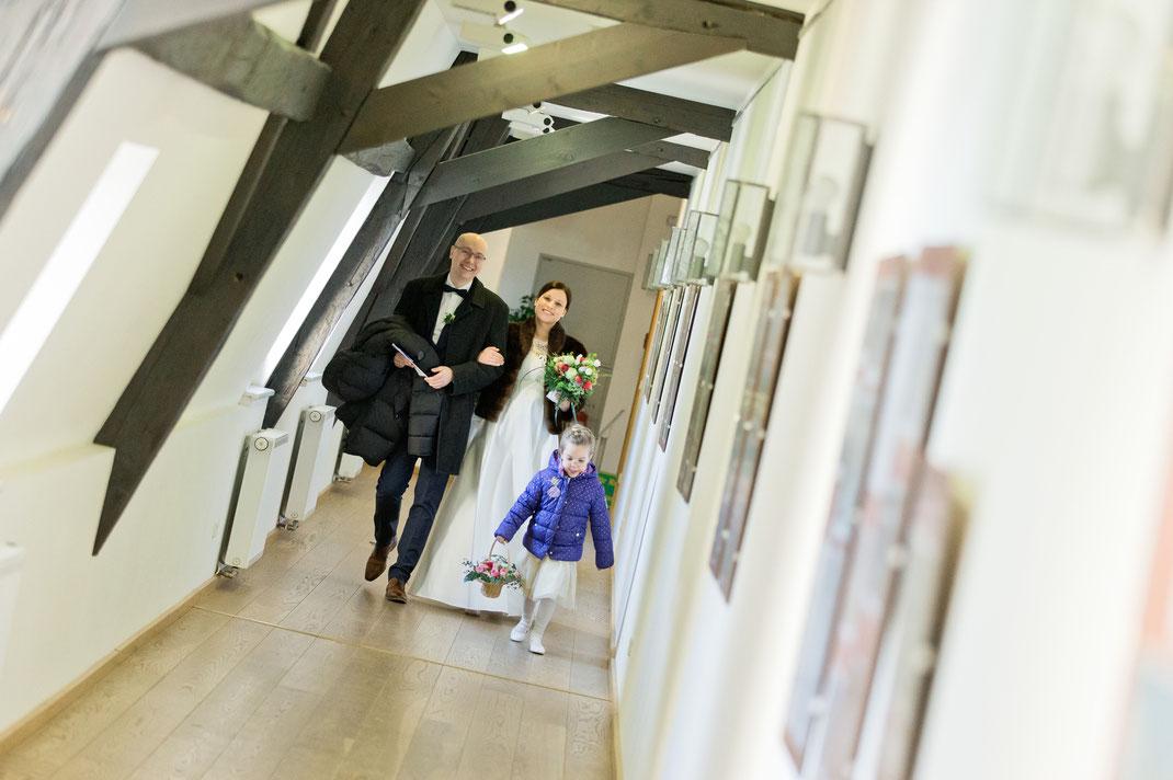 Brautpaar im schloss Wildeck