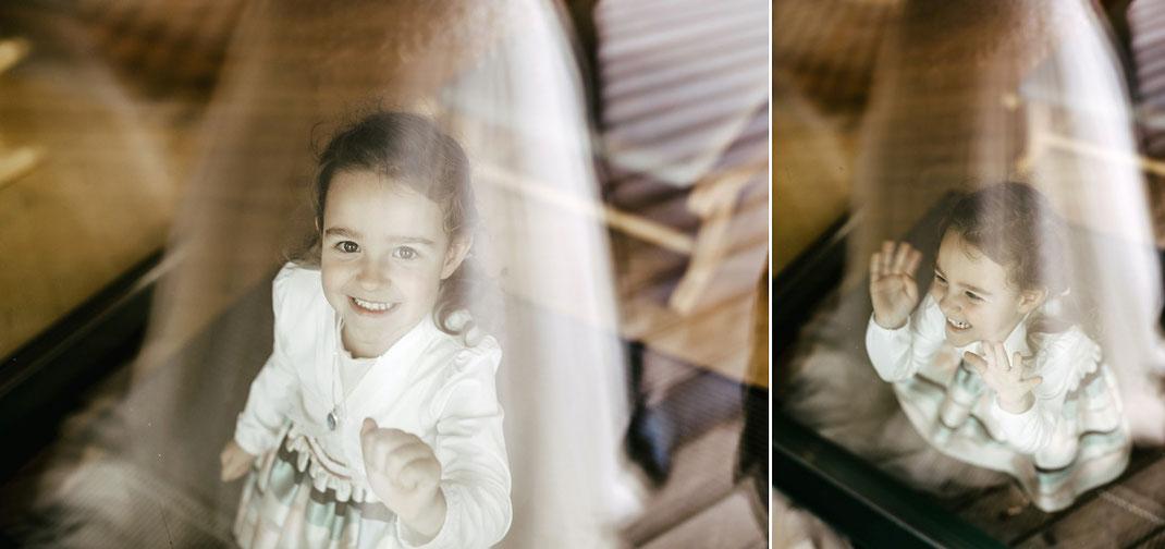 Hochzeitsfotos mit Spieglung