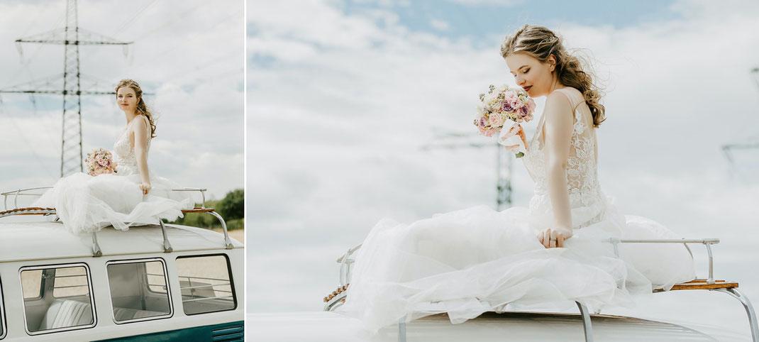 Ben Pfeifer Hochzeitsfotograf, VW Bulli Hochzeitsfotos