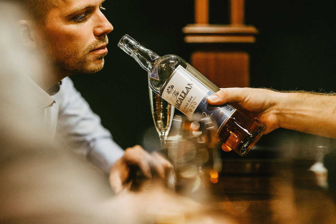 macallan fine oak, whisky, hochzeit whisky