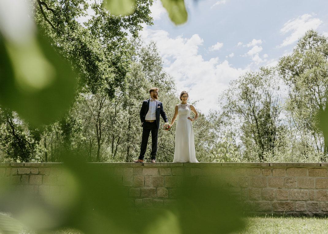 Hochzeitsfotos Brautpaar villa gückelsberg in chemnitz
