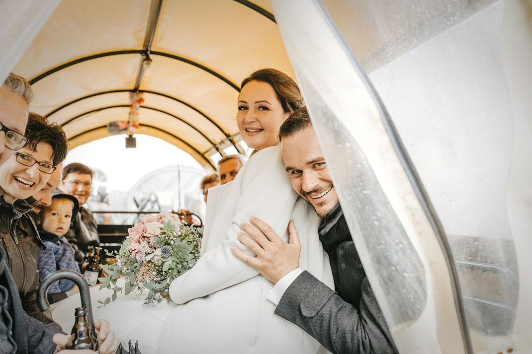 Hochzeit mit Pferdekutsche in Oberwiesenthal