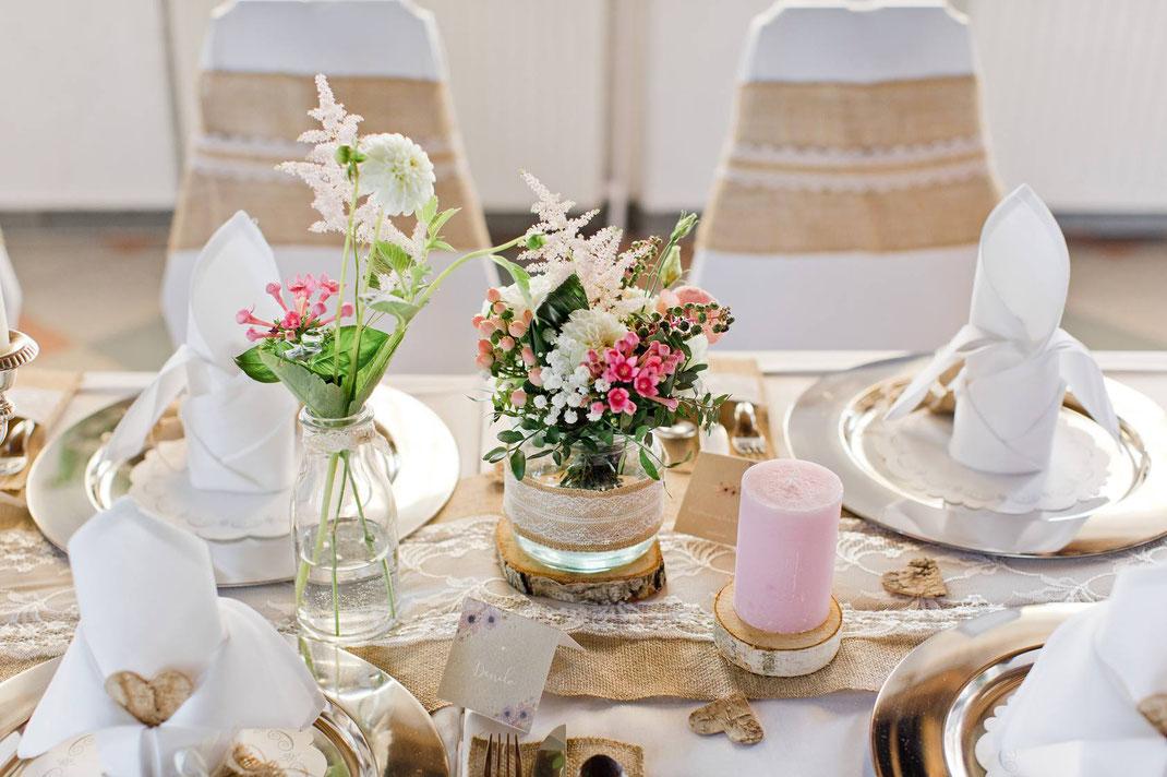 Tischdeko Hochzeit, Deko Hochzeit, Tischdekoration Hochzeit, Tischdeko Hochzeit Ideen, Vintage Deko, DIY Deko, Birkenholz, Tischdeko Birke