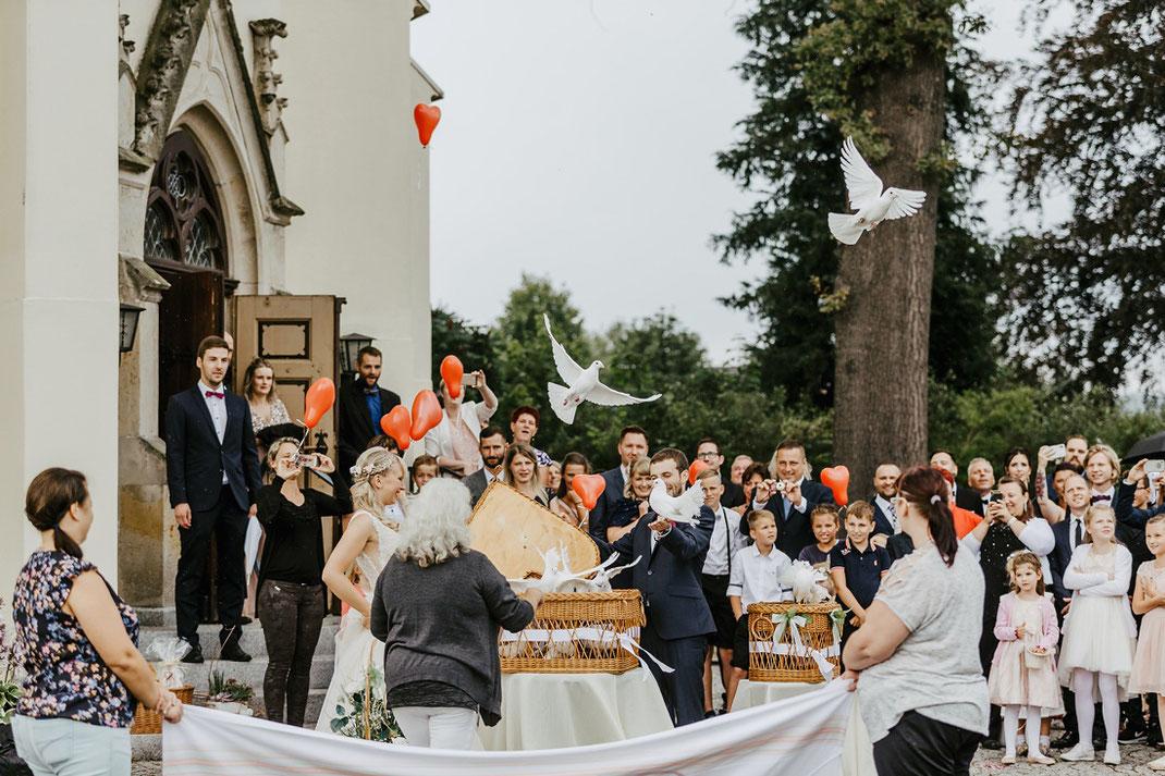 Hochzeitstauben Annaberg