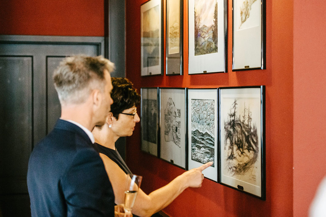 Gemälde Ausstellung im Restaurant Guck im Fichtelberghaus Oberwiesenthal