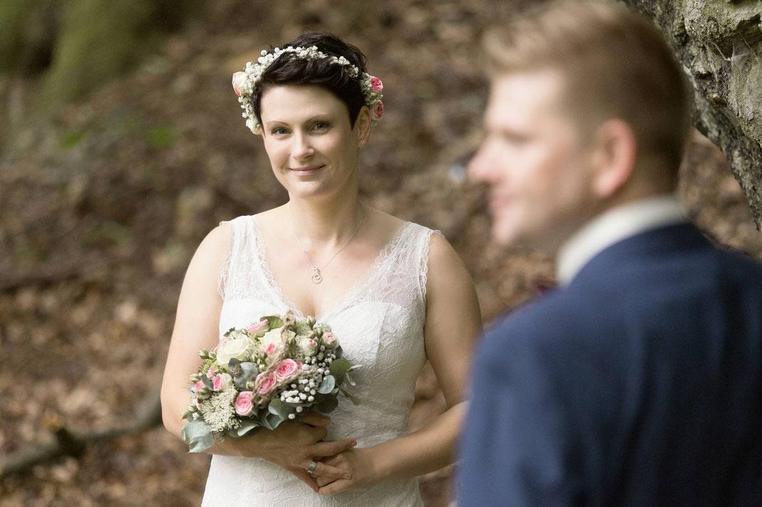Hochzeitsfotos, Wald