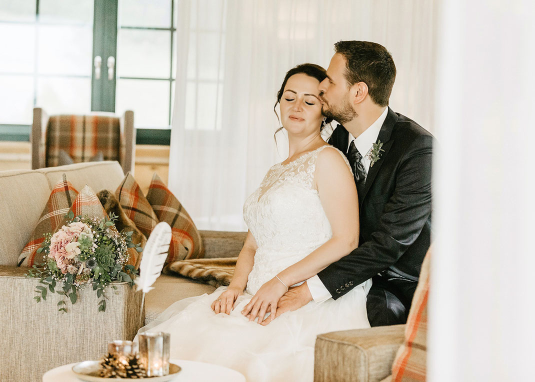 Hochzeit im Hotel Jens Weissflog (Fotoshooting in der Relax Lodge)