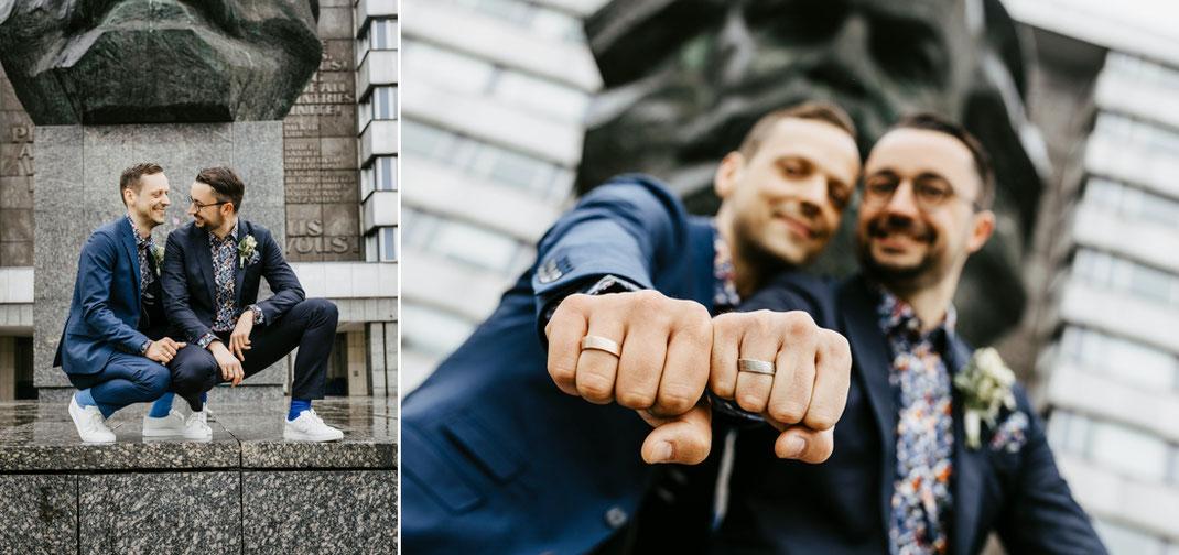 eine Männerhochzeit in Sachsen chemnitz, gay wedding