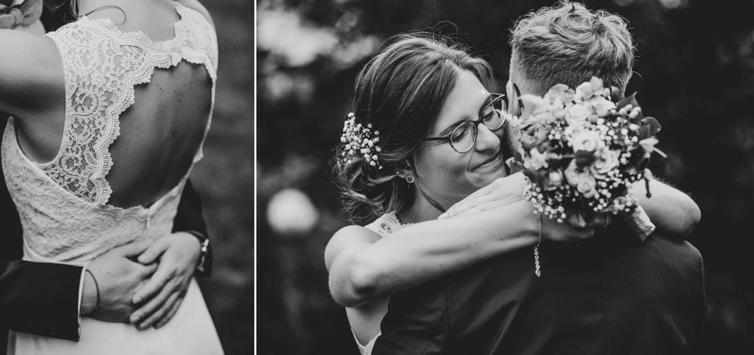 Brautkleid mit ausschnitt am rücken