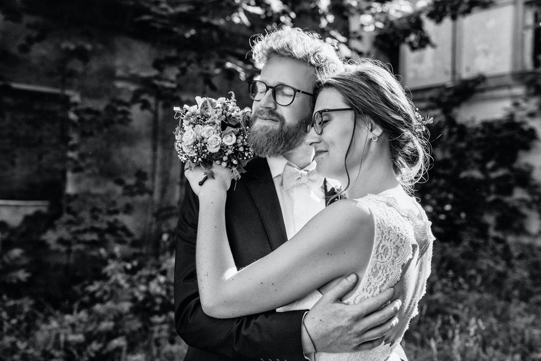 Hochzeitsfotos schwarz weiß