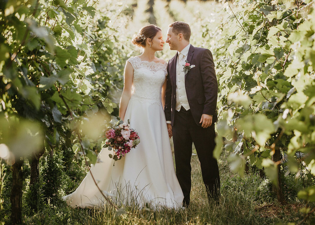 Hochzeitsfotos im Weinberg