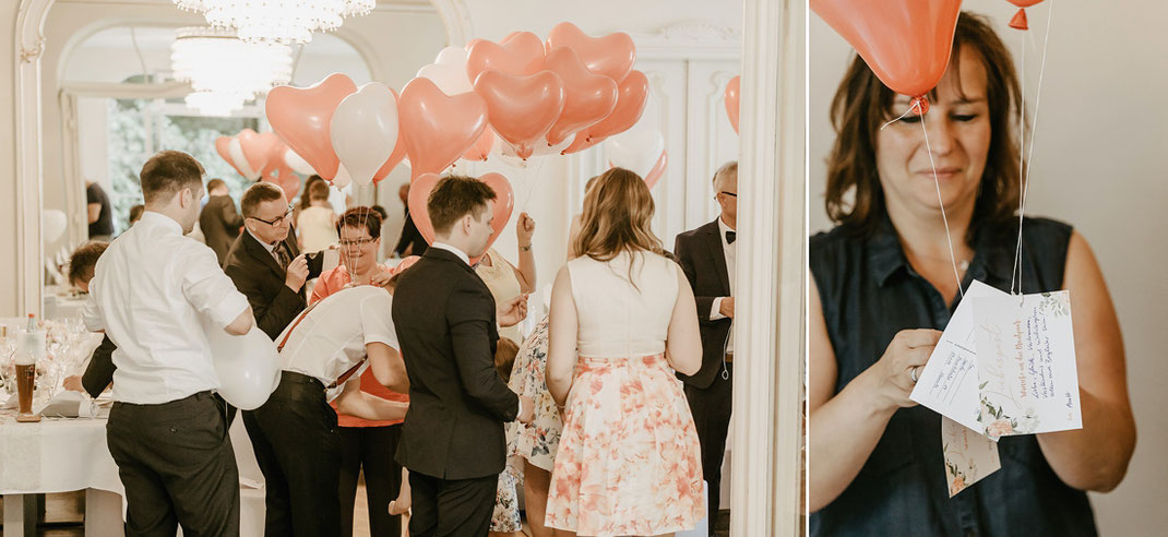 Luftballons Hochzeit, Schlosshotel Chemnitz, Schlosshotel Chemnitz Rabenstein
