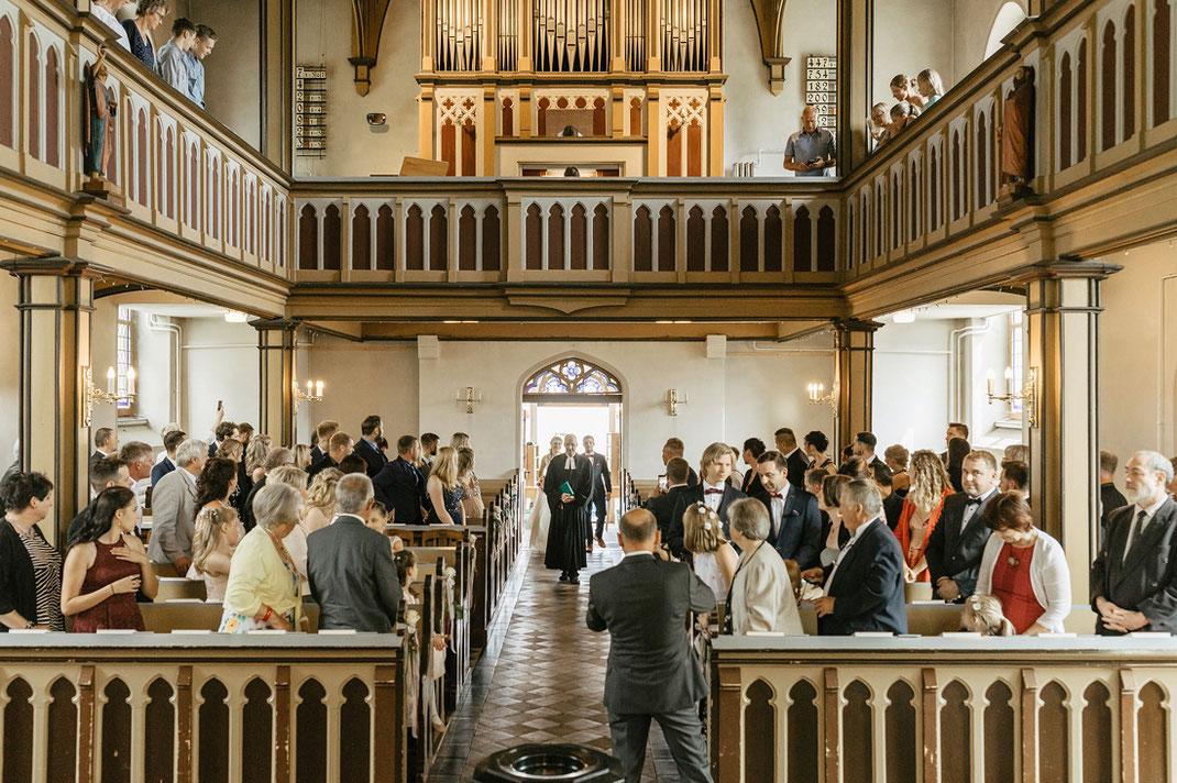 kirchliche Trauung in der kirche pockau lengefeld