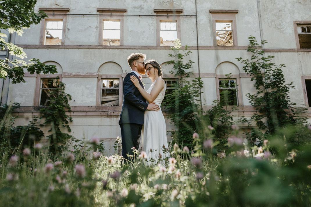 Trauung und Hochzeit im Freien in der Villa Gückelsberg an der Flöha von Fotograf Ben Pfeifer aus Annaberg-Buchholz