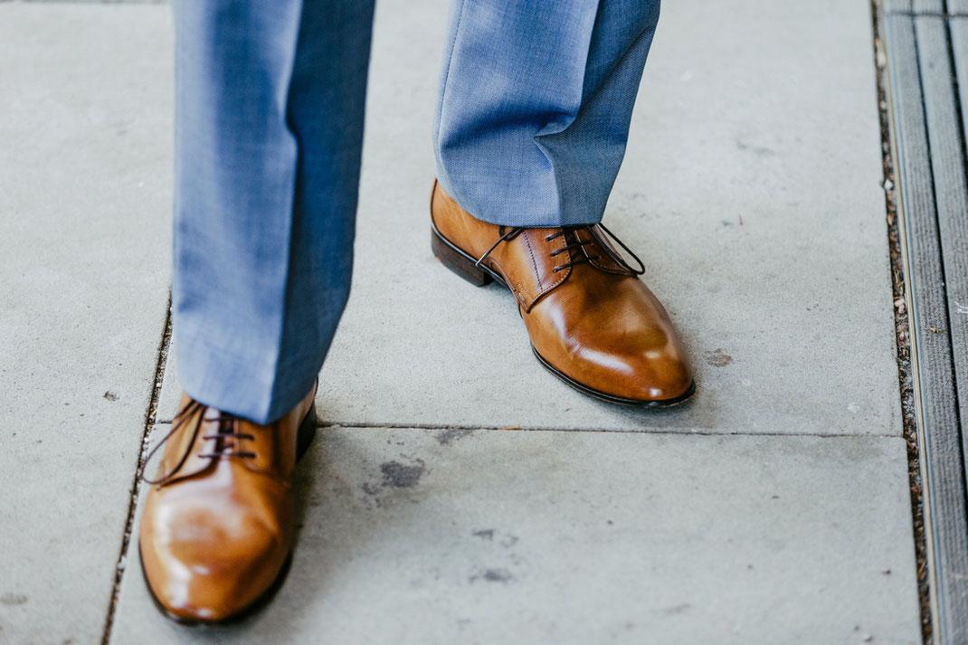 Bräutigam Schuhe braun