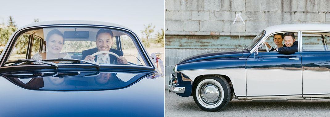 Wartburg Hochzeit Auto Fotos