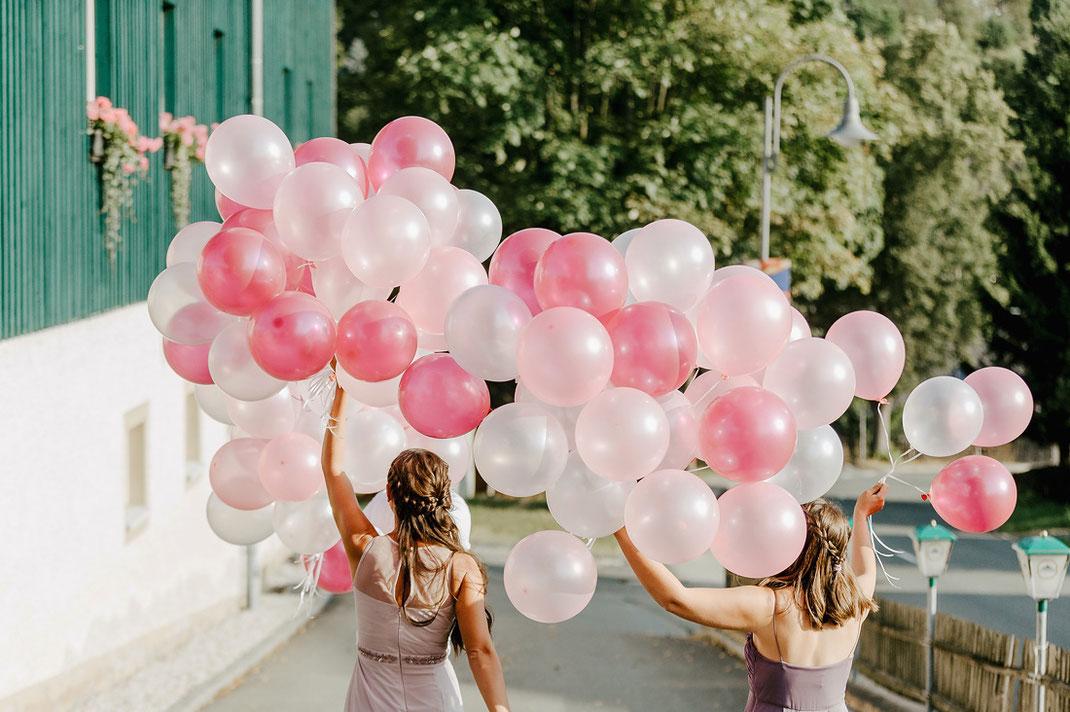 luftballons pink hochzeit