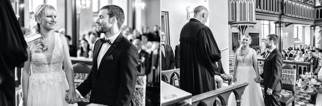Pfarrer pockau lengefeld mit brautpaar