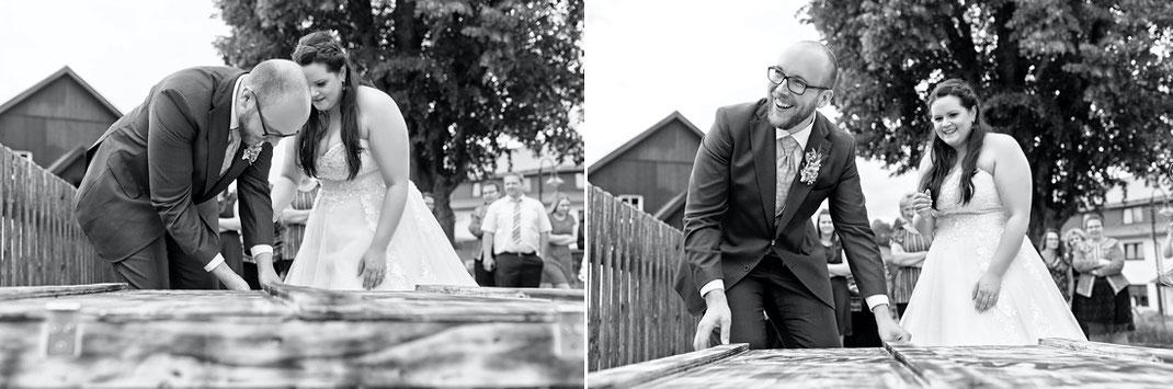 Überraschung Brautpaar