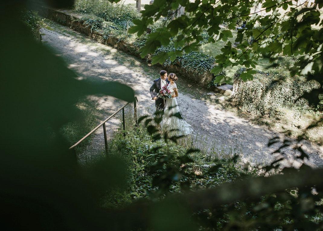 Fotoshooting mit Brautpaar in der Stiftung Schulpforta