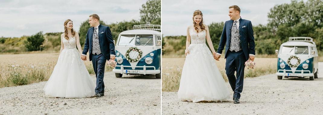 Hochzeitsfotos VW Bulli, Hochzeit Sachsen, Hochzeitsfotograf Sachsen, Ben Pfeifer Fotografie