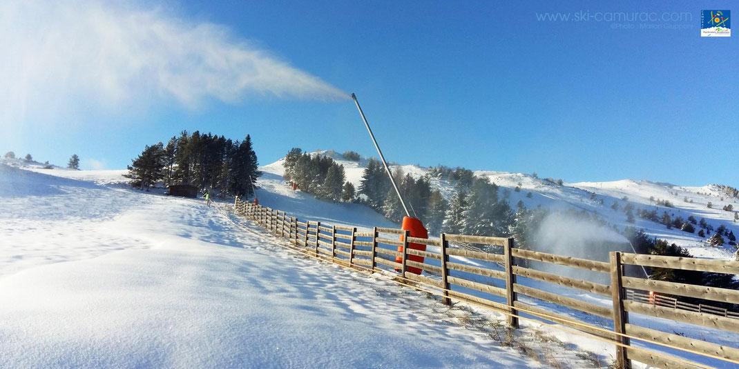 Premiers flocons sur la station de ski de Camurac