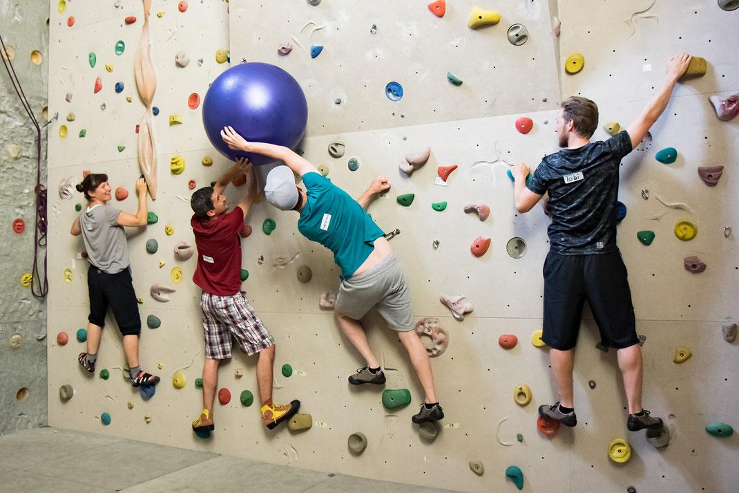 Klettern als Lehrgang am Seminar in Kirchheim