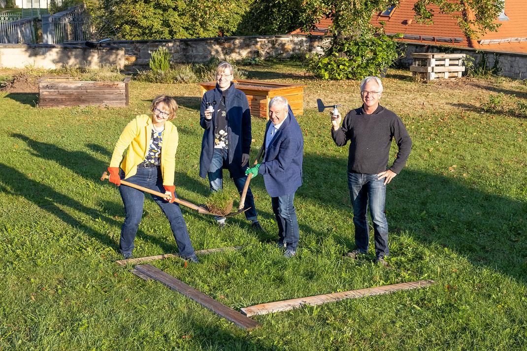 SAF Kirchheim - Spatenstich für die Umweltmessstation am Seminar in Kirchheim