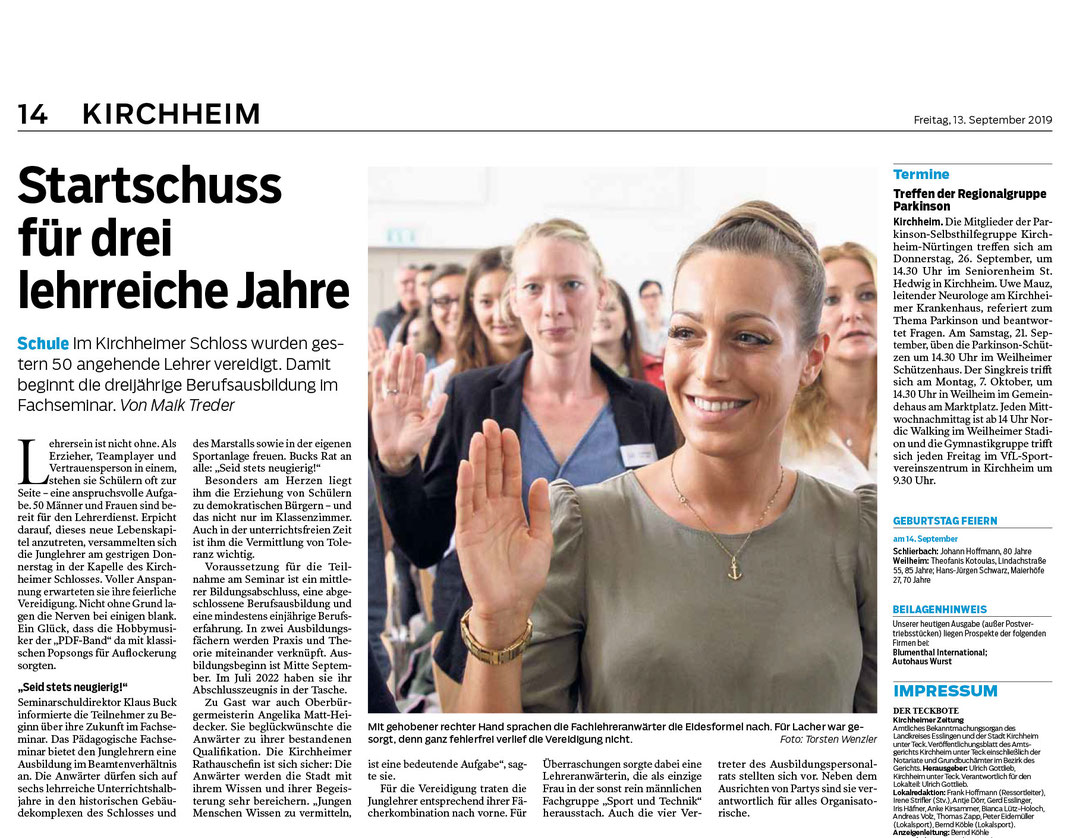 SAF Kirchheim - Vereidigung 2019