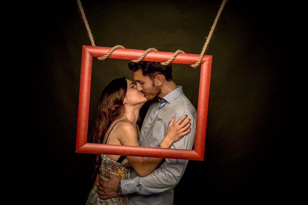 Fotografo matrimonio Torino Sposi in studio