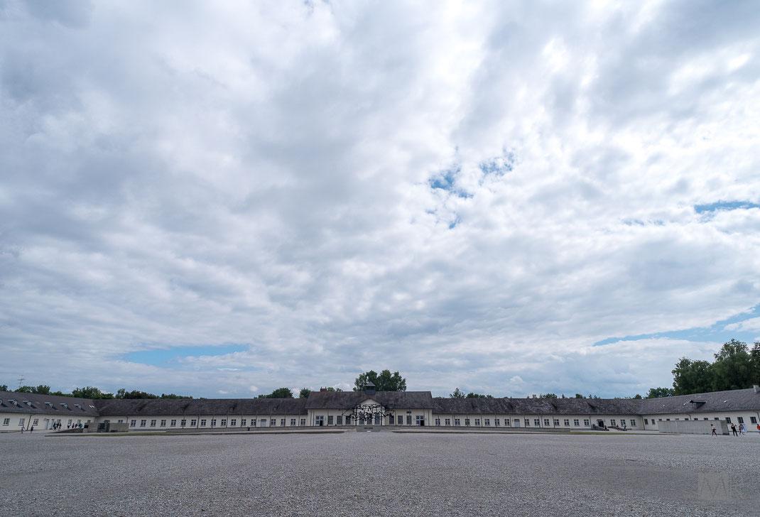 Le costruzioni centrali del campo di concentramento di Dachau