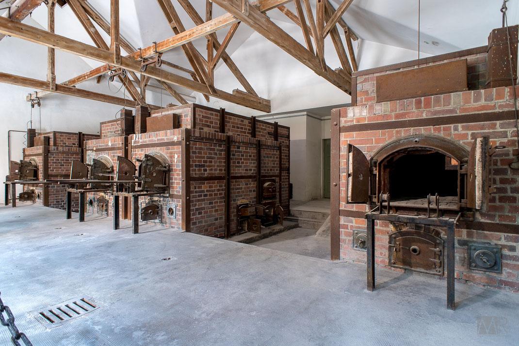 I nuovi forni crematori del campo di Dachau