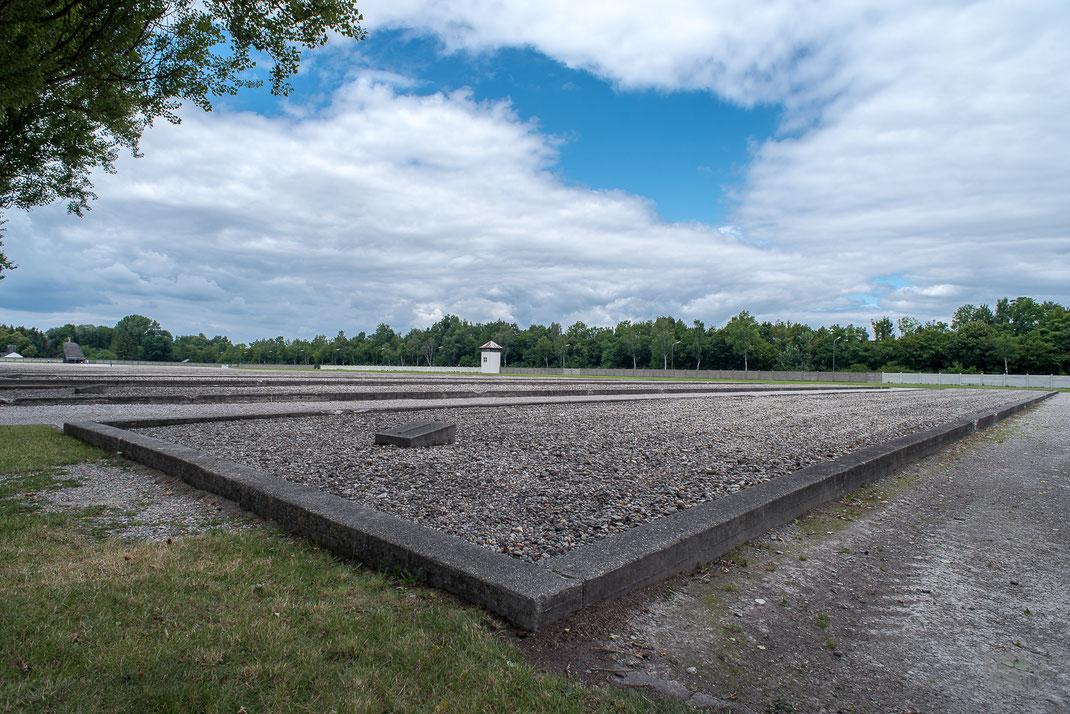 Fondamenta della baracca 1 del campo di Dachau