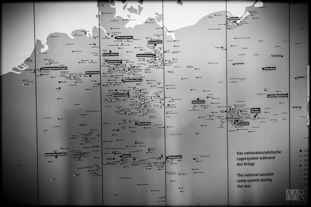 Mappa dell'organizzazione dei campi di concentramento nazisti