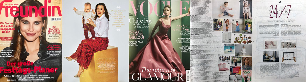 myBabyloon in der Presse: Vogue UK; House&Garden; Gala; Mummy Mag; Freundin etc.