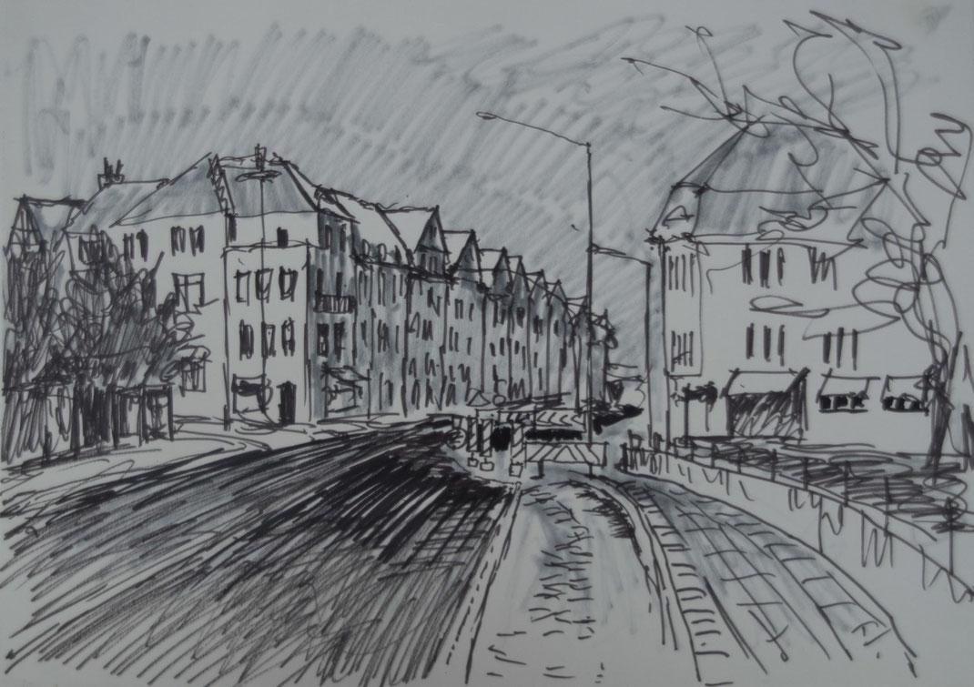 Bismarkstraße, Filzstift, siebziger Jahre
